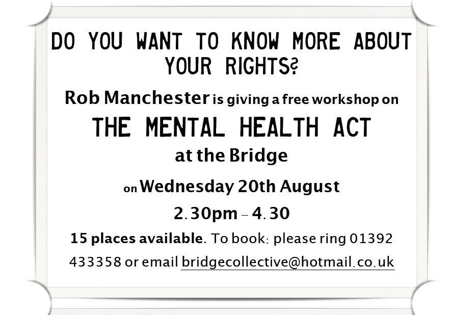 Mental Health Act workshop - August 2014