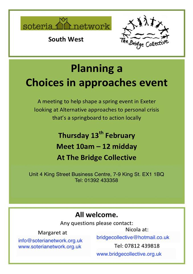 planning choices in approaches event
