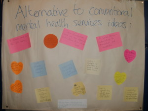 Alternatives to conventional mental health services ideas