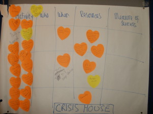Crisis house action planning