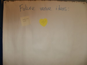 Future venue ideas