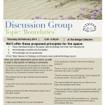 discussion group poster Boundaries feb 2014